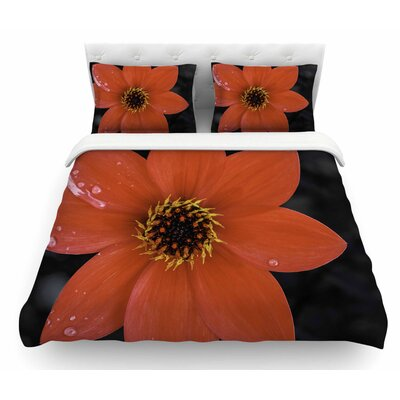 Wet Flower Petals by Nick Nareshni Featherweight Duvet Cover Size: Queen