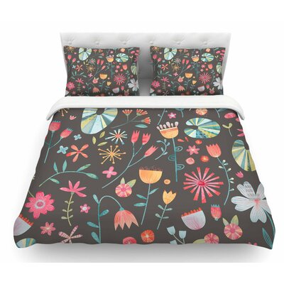 Wayside Flowers by Nic Squirrell Floral Featherweight Duvet Cover Size: King