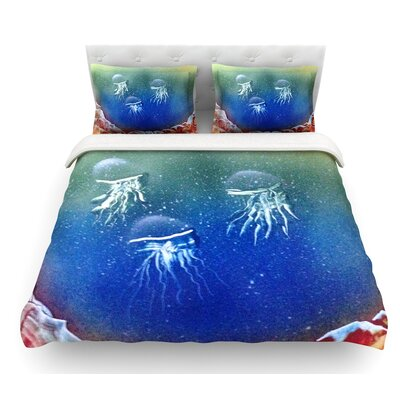 Underwater Aliens by Infinite Spray Art Jellyfish Featherweight Duvet Cover Size: Twin