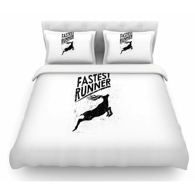 Fastest Runner by BarmalisiRTB Featherweight Duvet Cover Size: Twin