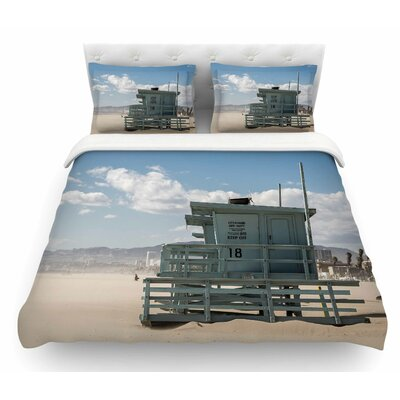 No Lifeguard on Duty by Juan Paolo Featherweight Duvet Cover Size: King