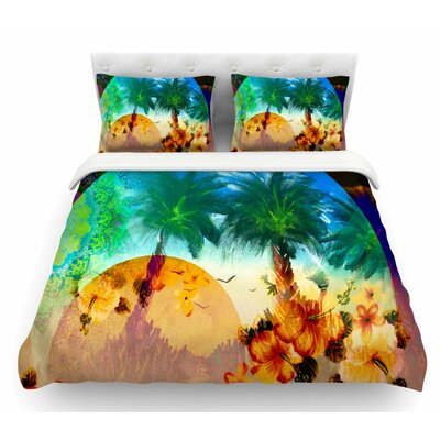 Paradise Patterns by Infinite Spray Art Featherweight Duvet Cover Size: Queen
