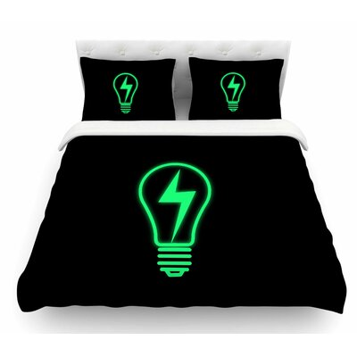 Thunder Bulb by BarmalisiRTB Featherweight Duvet Cover Size: Twin