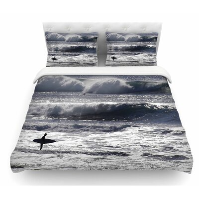 Lone Surfer by Nick Nareshni Featherweight Duvet Cover Size: King