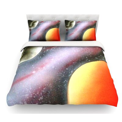 Alignment by Infinite Spray Art Featherweight Duvet Cover Size: Queen