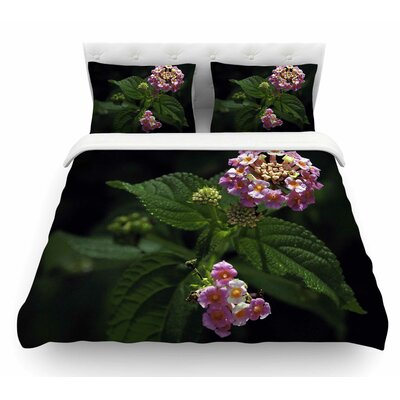 The Lantana Flower by Nick Nareshni Featherweight Duvet Cover Size: Queen