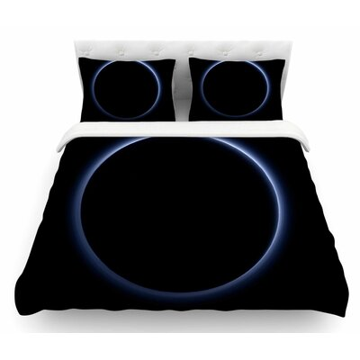 Portal to Pluto by Alias Abstract Digital Featherweight Duvet Cover Size: King