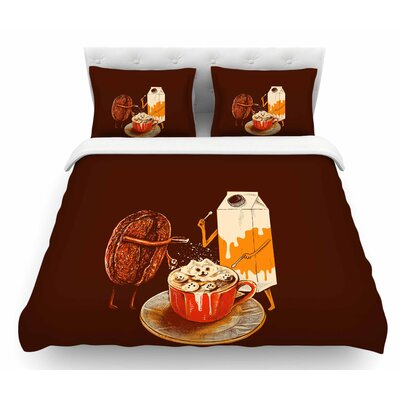 Latte Art by BarmalisiRTB Illustration Featherweight Duvet Cover Size: King