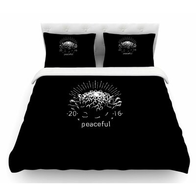 Peaceful by BarmalisiRTB Featherweight Duvet Cover Size: King