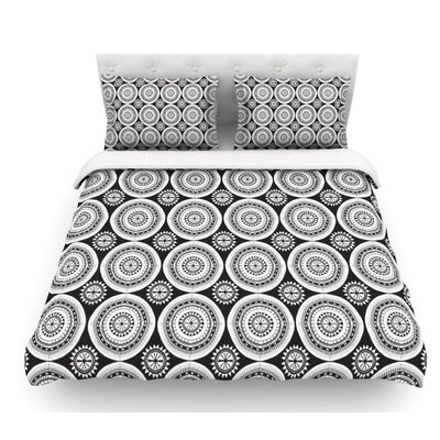 Circles by Nandita Singh Featherweight Duvet Cover Size: Twin