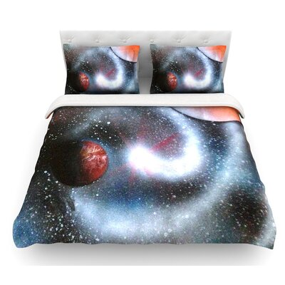 Starburst by Infinite Spray Art Galaxy Featherweight Duvet Cover Size: Queen