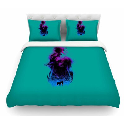 Forest Queen by BarmalisiRTB People Featherweight Duvet Cover Size: Queen