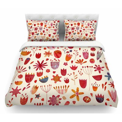 Spring Flowers by Nic Squirrell Featherweight Duvet Cover Size: King