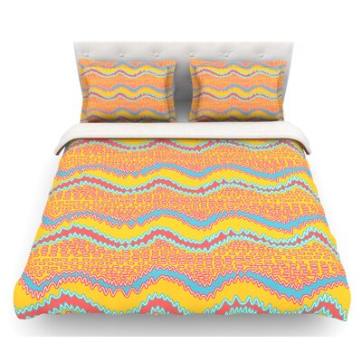 Waves by Nandita Singh Featherweight Duvet Cover Size: King