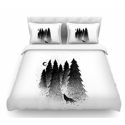 Secret Forest by BarmalisiRTB Featherweight Duvet Cover Size: Queen
