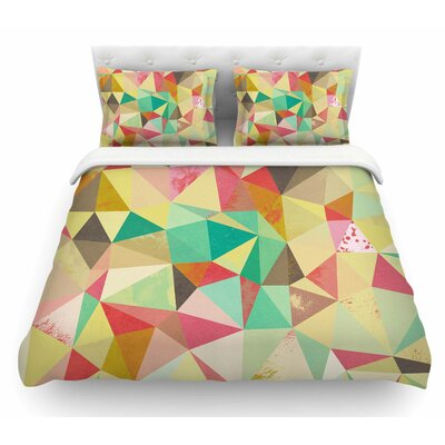 Shards by Nic Squirrell Digital Featherweight Duvet Cover Size: King