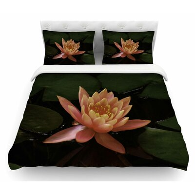Lily Pad Flower by Nick Nareshni Featherweight Duvet Cover Size: Queen
