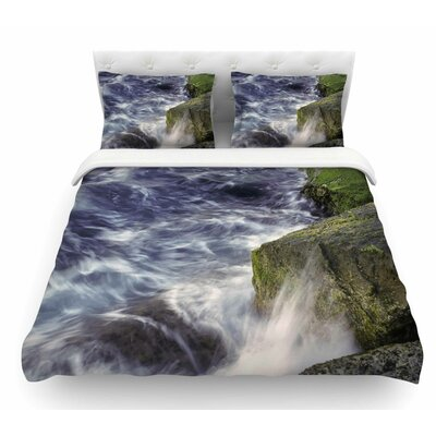 Wave Against La Jolla Rocks by Nick Nareshni Ocean Featherweight Duvet Cover Size: Twin