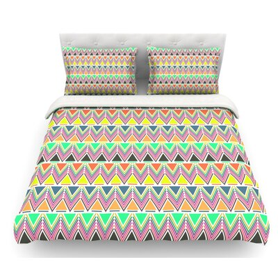 Pattern Play by Nandita Singh Rainbow Chevron Featherweight Duvet Cover Size: Twin, Color: Rainbow