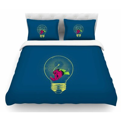 Anglerfish Bulb by BarmalisiRTB Featherweight Duvet Cover Size: Twin