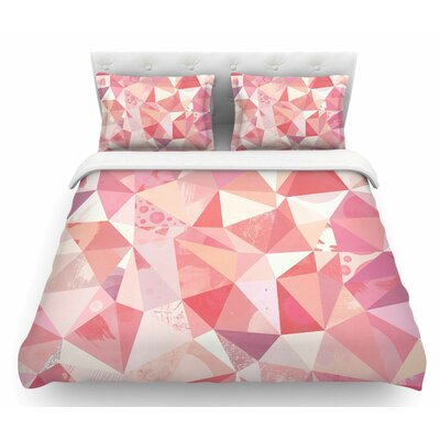 Crumpled by Nic Squirrell Geometric Featherweight Duvet Cover Size: King