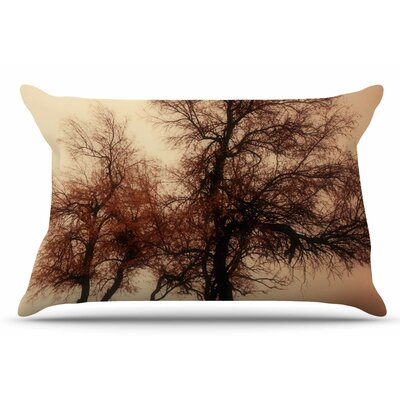 Rust Trees by Sylvia Coomes Pillow Sham Size: King