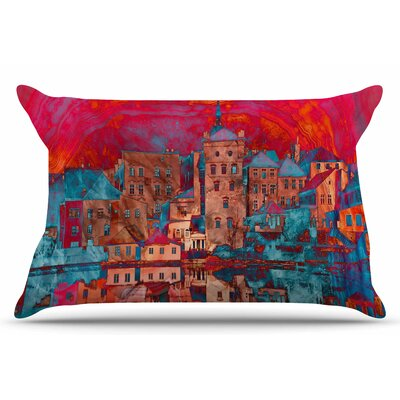 Marbled Skyline by Suzanne Carter Pillow Sham Size: King