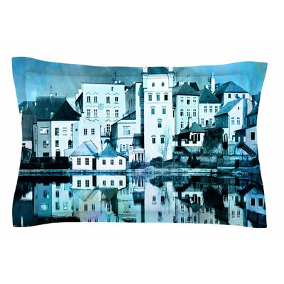 Night Sky by Suzanne Carter Pillow Sham Size: Queen