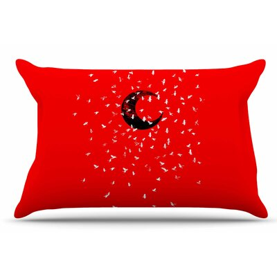 Moon by BarmalisiRTB Pillow Sham Size: King