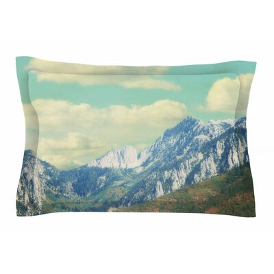 Utah Mountains by Sylvia Coomes Pillow Sham Size: Queen