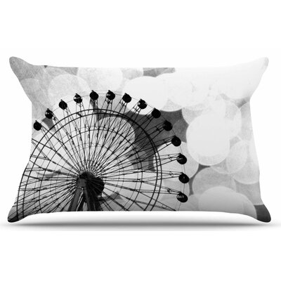 Ferris Wheel by Sylvia Coomes Pillow Sham Size: King