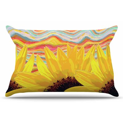 Sunflower Dreaming by Suzanne Carter Pillow Sham Size: King