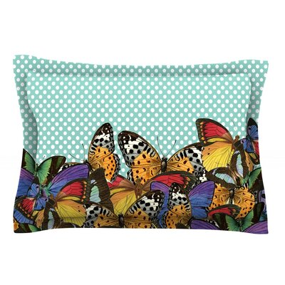 Butterfly Polka by Suzanne Carter Pillow Sham Size: Queen