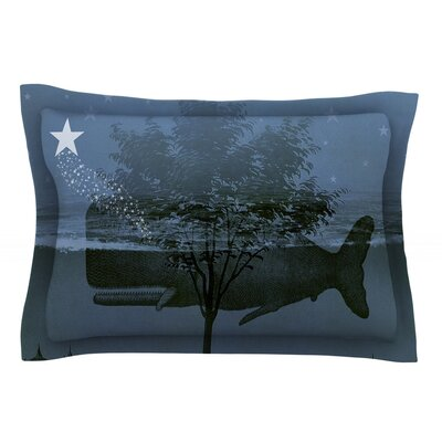 Whale Watch by Suzanne Carter Pillow Sham Size: Queen