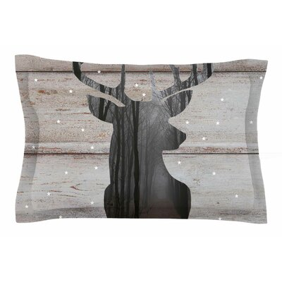 The Road by Suzanne Carter Pillow Sham Size: King, Color: Woodgrain