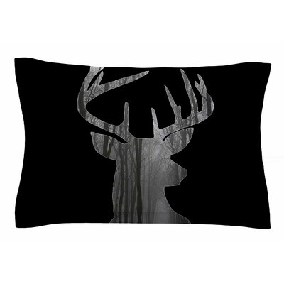 The Road by Suzanne Carter Pillow Sham Size: Queen, Color: Black