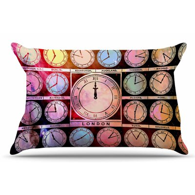 Time Space by Suzanne Carter Pillow Sham Size: King