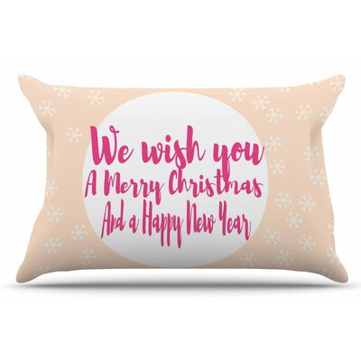 Merry Chistmas & Happy New Year by Suzanne Carter Pillow Sham Size: King