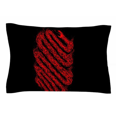 Fire Snake by BarmalisiRTB Pillow Sham Size: Queen