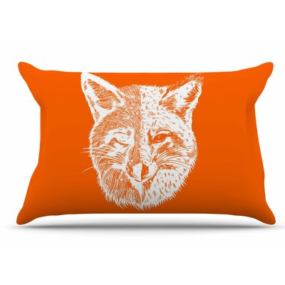 Foxface by BarmalisiRTB Pillow Sham Size: King