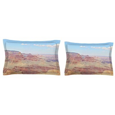 Grand Canyon Panoramic by Sylvia Coomes Pillow Sham Size: King