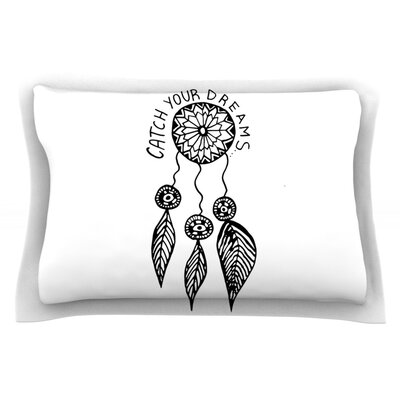 Catch Your Dreams by Vasare Nar Pillow Sham Color: White, Size: Queen