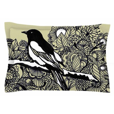 Magpie by Sonal Nathwani Pillow Sham Size: Queen