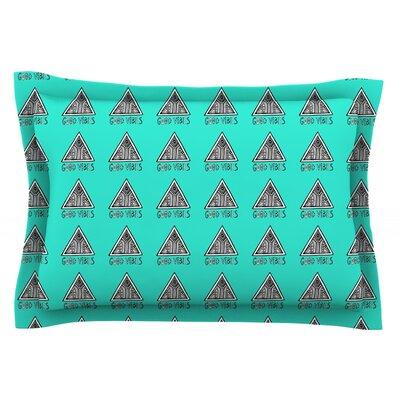 Good Vibes Green by Vasare Nar Pillow Sham Size: Queen