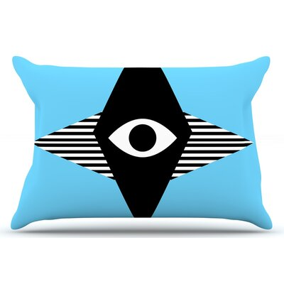 Eye Graphic by Vasare Nar Pillow Sham Size: King