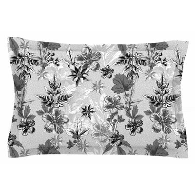Engraving Flowers by Victoria Krupp Pillow Sham Size: Queen