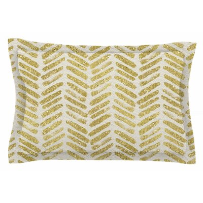 Golden Vision by 888 Design Pillow Sham Size: Queen