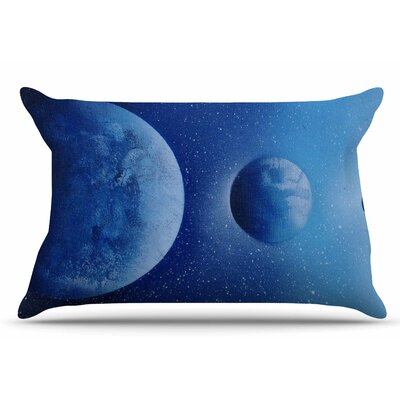Interplanetary Alignments by Infinite Spray Art Pillow Sham Size: King