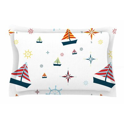 Sailing by Stephanie Vaeth Pillow Sham Size: Queen