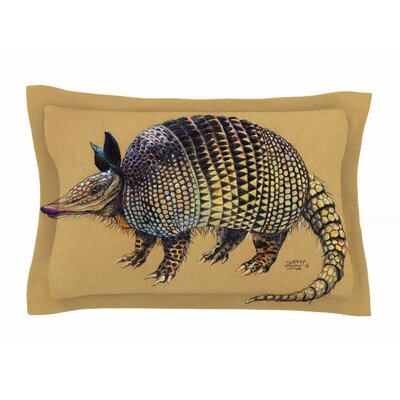 Aramadilio Alebrija by Sophy Tuttle Pillow Sham Size: Queen